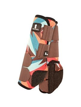 Classic Equine CHOCOLATE TEAL TWIST LEGACY SYSTEM FRONT SPLINT BOOTS