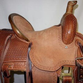 Chino Tack Chino Tack Old Timer Saddle Tooled 12""