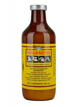 Duravet DURAVET PENICILLIN INJECTABLE 250ML