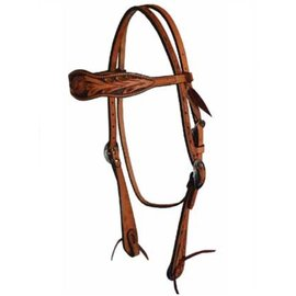 Courts COURTS FLORAL PATTERN DYED BG & EDGES BROWBAND HEADSTALL 100-63988
