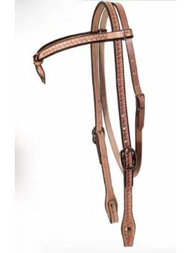 Courts COURTS FUTURITY BASKETWEAVE TIE BROWBAND HEADSTALL 100-7222