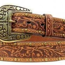 Ariat ARIAT BROWN EMBOSSED GOLD STUDS A1513837
