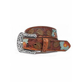 Ariat ARIAT BROWN PAINTED FLORAL TOOLED A1511697
