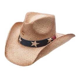 Charlie 1 Horse Charlie 1 Horse Stars and Stripes Straw Hat CSSTRS-4036
