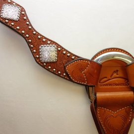 Reinsman Reinsman Breastcollar- Sharon Camarillo Sure Fit w/Silver Dots & Diamond Shaped Conchos- 6173H