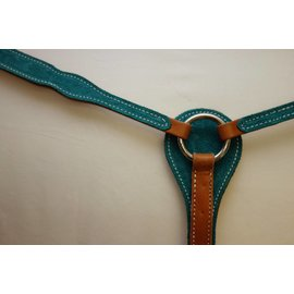 Other Breastcollar- Turquoise w/Floral Pattern