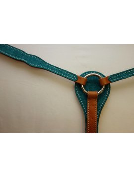 Other Breastcollar- Turquoise w/Floral Pattern C6