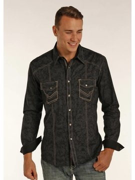 ROCK&ROLL COWBOY Men's Rock & Roll Cowboy Long Sleeve Shirt B2S2066