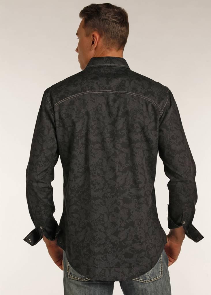 Rock Roll Cowboy Men S Rock Roll Cowboy Long Sleeve Shirt B2s2066
