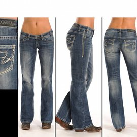 Rock and Roll Cowgirl Women's Rock & Roll Cowgirl Riding Jean W7-7371