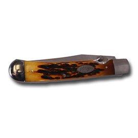 Hooey HOOEY TRAPPER W/CLIP KNIFE HONEY BONE HK302