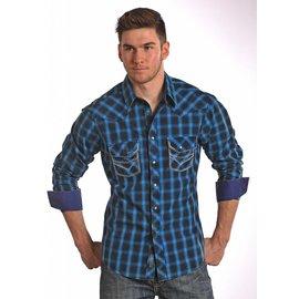ROCK&ROLL COWBOY Men's Rock & Roll Cowboy Snap Front Shirt B2S5420