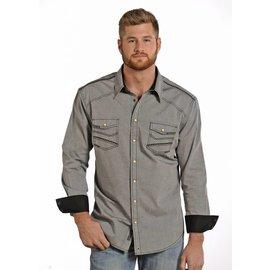 ROCK&ROLL COWBOY Men's Rock & Roll Cowboy Snap Front Shirt B2S4412