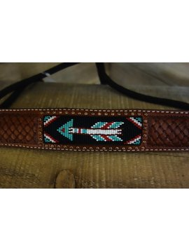 Rafter T Rafter T Pin Cushion Tooling Beaded Arrow Inlay Rope Halter RH73