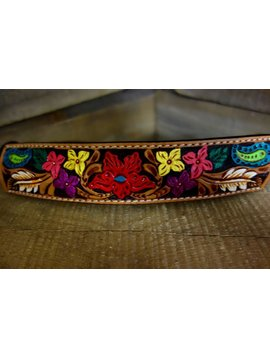 Rafter T Rafter T Painted Floral Tooling Rope Halter RH64