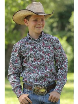Cinch Boy's Cinch Button Down Shirt MTW7060158
