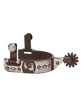 American Heritage Equine Men's German Silver Roping Spurs