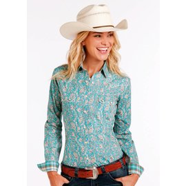 Panhandle Women's Rough Stock Snap Front Shirt R4S2194