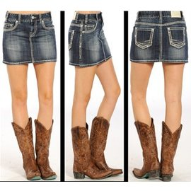 Miss Me Jeans Women's Rock & Roll Cowgirl Skirt 69-8536