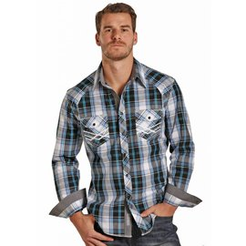 ROCK&ROLL COWBOY Men's Rock & Roll Cowboy Snap Front Shirt B2S3140