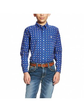 Ariat Boy's Ariat Benchley Button Down Shirt 10020958
