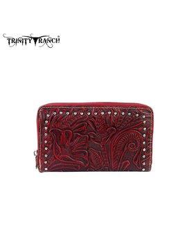 Trinity Ranch Trinity Ranch Tooled Wallet TR22-W003 RD