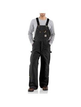 Carhartt Men's Carhartt Quilt Lined Bib Overall R41-BLK