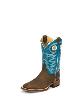 Justin Men's Justin Bent Rail Caddo Blue Boot BR742