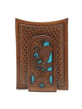 Nocona Belt Co. Men's Nocona Leather Money Clip Wallet N5426527