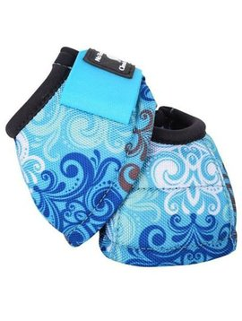 Classic Equine CLASSIC EQUINE DYNO DESIGNER BLUE SCROLL BELL BOOTS