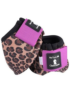 Classic Equine CLASSIC EQUINE DYNO DESIGNER CHEETAH VIOLET BELL BOOTS