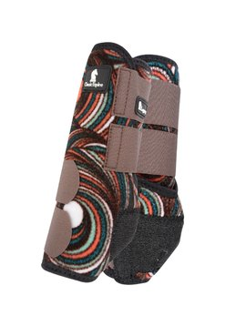 Classic Equine CHOCOLATE SWIRL LEGACY SYSTEM FRONT SPLINT BOOTS