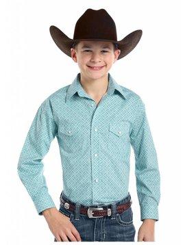 Panhandle Boy's Rough Stock Snap Front Shirt R2S7572