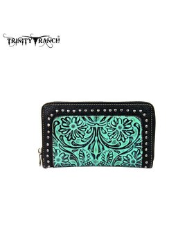 Montana West Women's Trinity Ranch Tooled Wallet TR18-W003 TQ