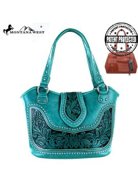Montana West Women's Montana West Tooled Conceal Carry Handbag WRLG-8005 TQ