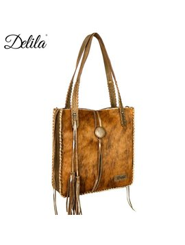 Montana West Women's Delila Hair-On Hide Tote LEA-6026 BR