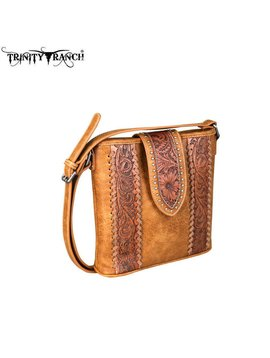 Montana West Women's Trinity Ranch Tooled Crossbody Bag TR65-8360 BR