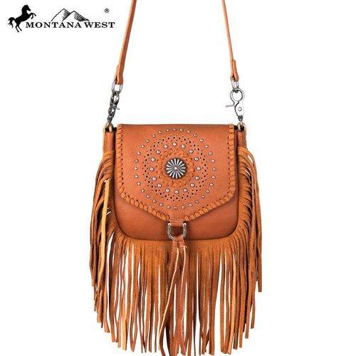 Montana West Women S Fringe Crossbody Bag Rlc L109 Br
