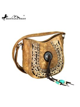 Montana West Women's Montana West Concho Crossbody Bag MW608-8360 BR
