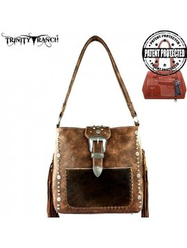 Montana West Women's Trinity Ranch Hair-On Conceal Carry Hobo Bag TR35G-121 CF