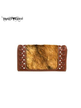 Montana West Women's Trinity Ranch Hair-On Wallet TR44-W010 BR