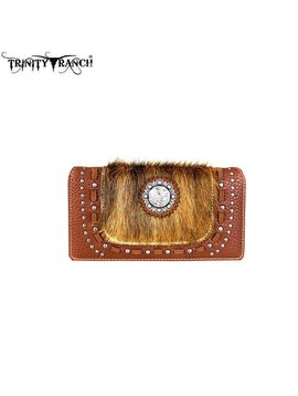 Montana West Women's Trinity Ranch Hair-On Wallet TR48-W010 BR
