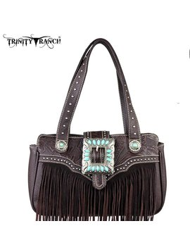 Montana West Women's Trinity Ranch Fringe Handbag TR30-8247 CF
