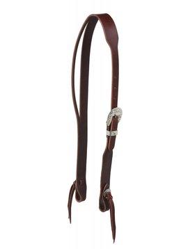 Berlin Custom Leather LTD Latigo Leather Split Ear Headstall w/Floral Buckle
