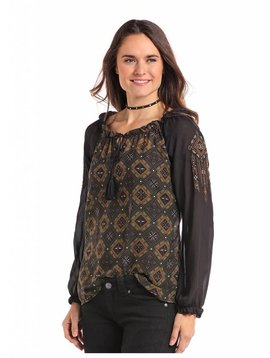 Rock and Roll Cowgirl Women's Panhandle Blouse 22-7149