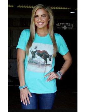 Crazy Train Women's Crazy Train Heel of a Catch T-Shirt SR