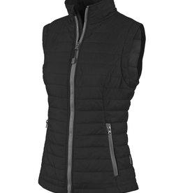 Women's Quilted Vest Grey/Black S
