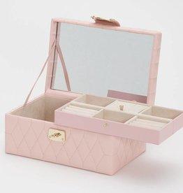 Wolf Caroline Small Jewelry Case Rose Quartz