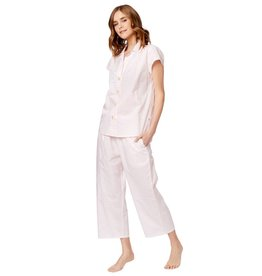 The Cat's Pajamas Capri Pajama Pink Gingham