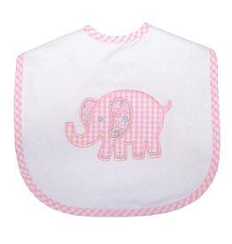 Three Marthas Bib Toddler Pink Elephant